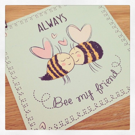 over 50% OFF Cute Little Hanging Tin Sign- Always Bee My Friend